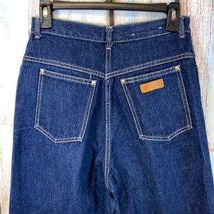 Vintage Gitano High-Waisted Tapered Dark-Wash Jeans Size 13/14